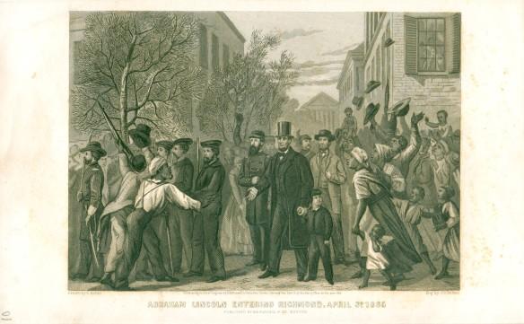 Lincoln entering Richmond