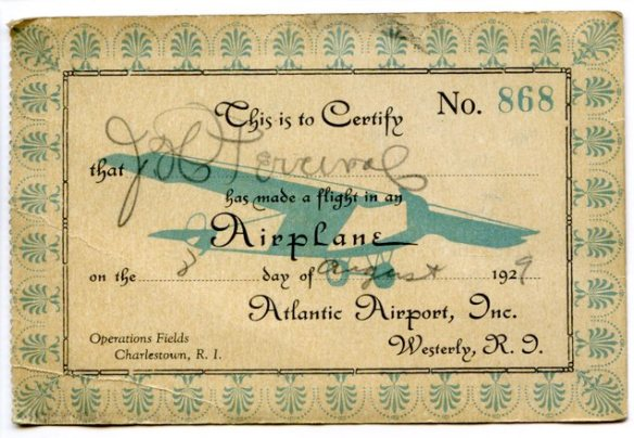 airplane card - front