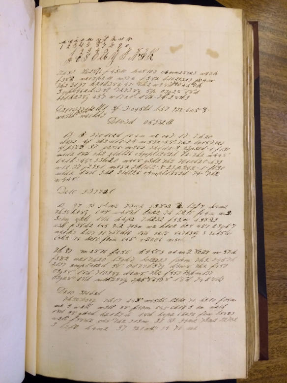 Marcus journal, p. 1