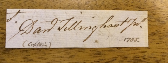 Tillinghast letter