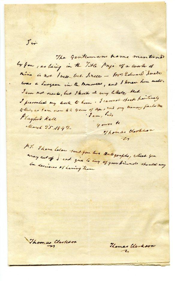 Clarkson Letter
